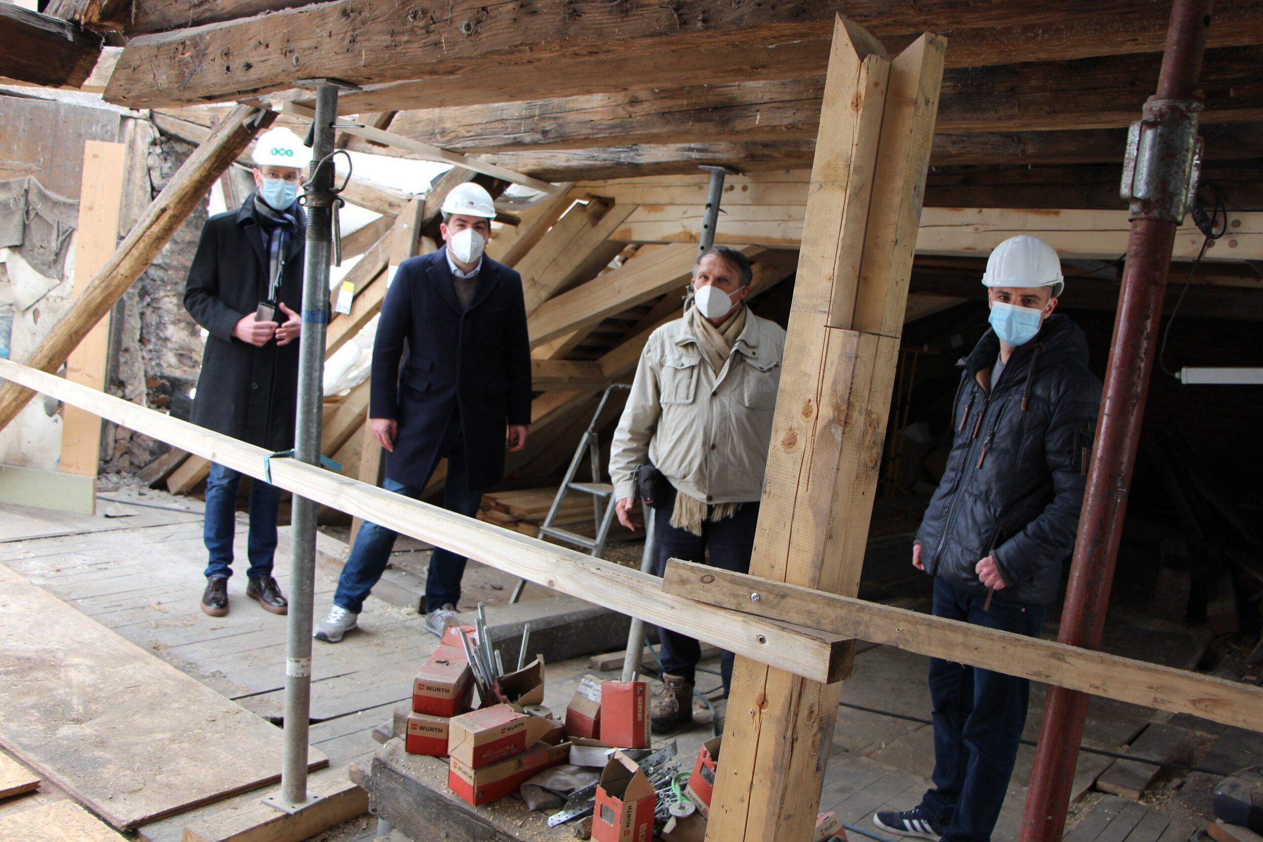 Haus zum Maulbeerbaum. Genossenschaft setzt auf weitere Bundesförderung für das Sanierungsprojekt.