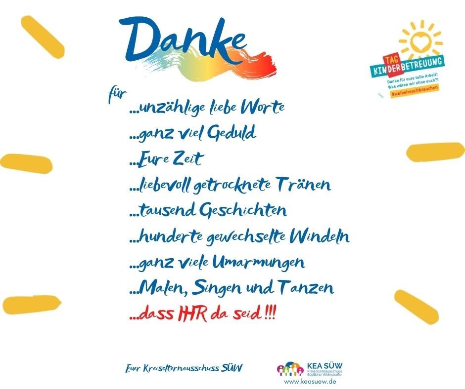 Tag der Kinderbetreuung in SÜW. Übergabe von Dankeschön-Paketen an alle Kitas