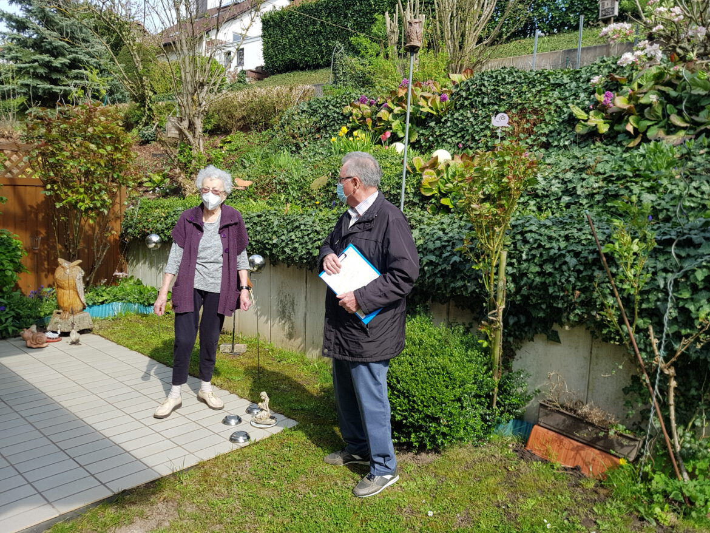 Seniorenbeauftragter Günter Magin.Seniorenhilfe. Gartenarbeit gefragt.