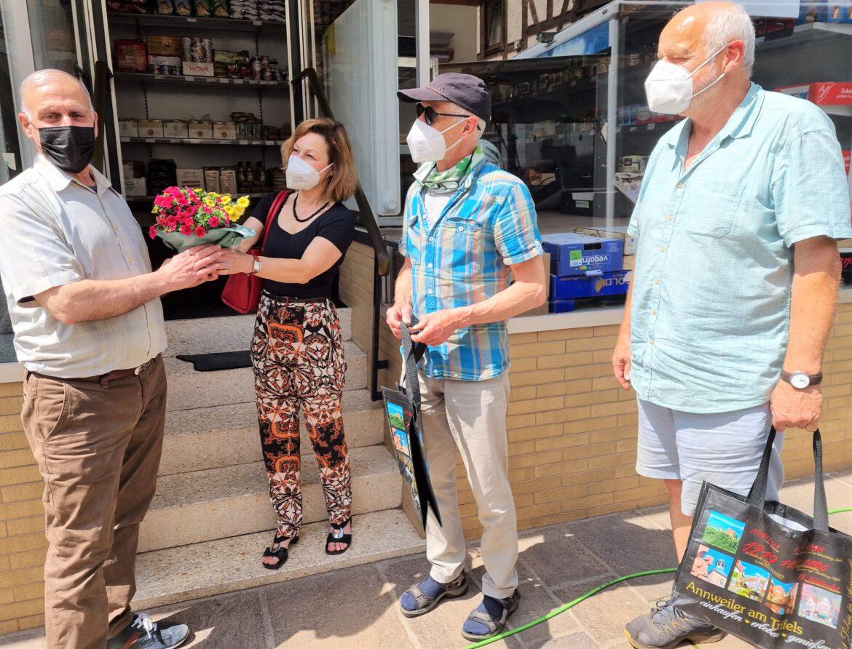 Abdullah am Rathausplatz Annweiler.Arabischer Lebensmittel-Laden neu eröffnet.