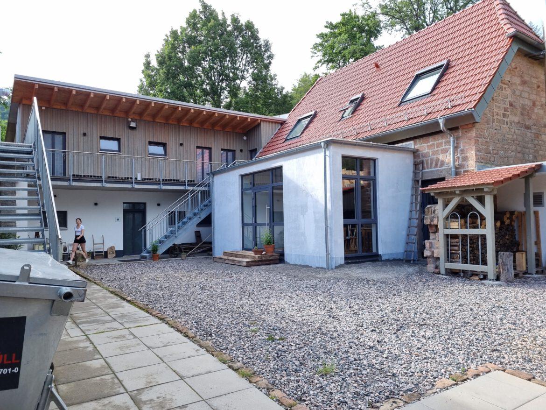 Forsthaus Annweiler.Historische Sandsteinscheune als LEADER-Projekt gefördert