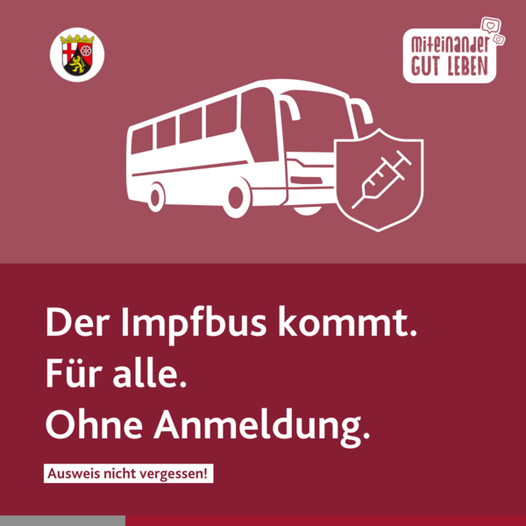 Ab Montag touren Impfbusse durch Rheinland-Pfalz