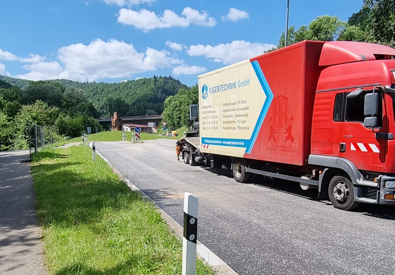 Annweiler-West. Sperrung B48.2. Bauabschnitt beginnt. Kreisverkehr wieder frei ab 24. Juli.