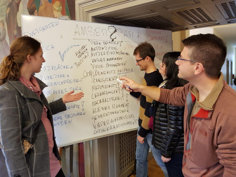 Motivation und Engagement im Arbeitskreis Generationenprojekt.Den Ambert Park gemeinsam als Kleinod entwickeln