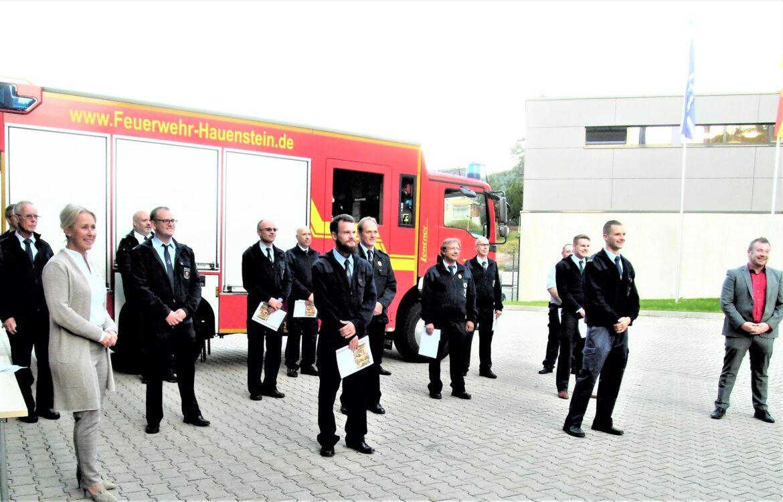 Feuerwehr Hauenstein. Verpflichtungen, Ernennungen und Ehrungen